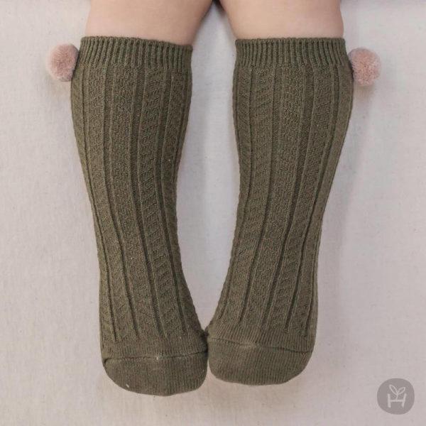 Laura knee socks - Khaki | Korean Kids Clothes - Imaryakids