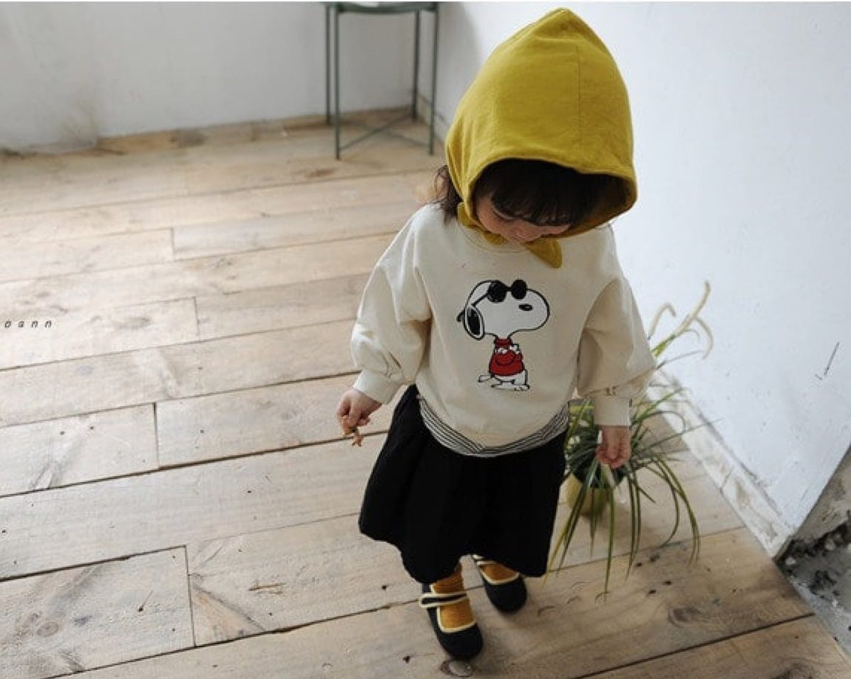 Snoopy M to M Tee | Korean Kids Clothes - Imaryakids