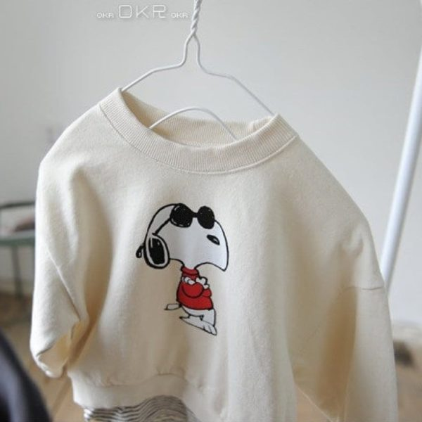 Snoopy M to M Tee - Cream | Korean Kids Clothes - Imaryakids