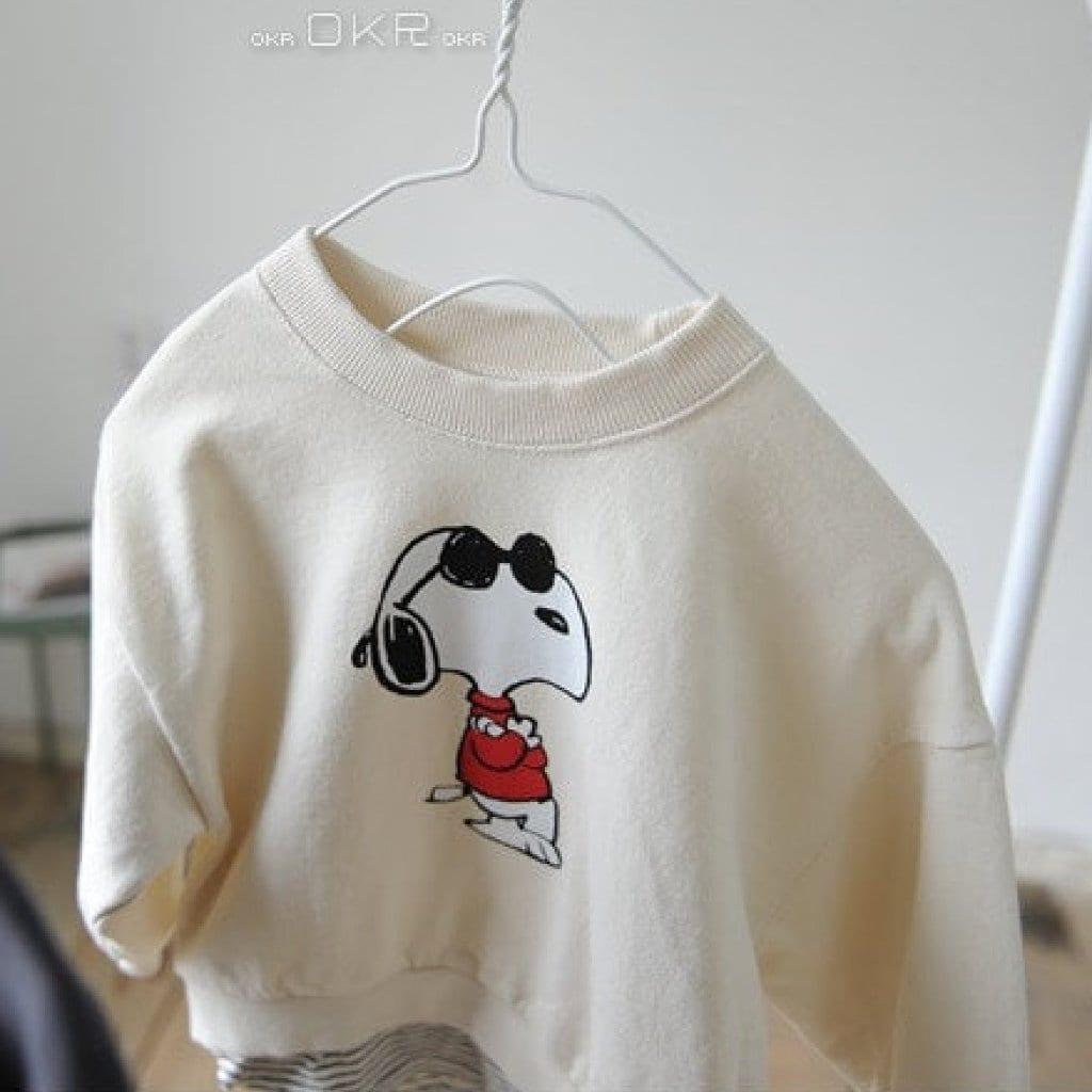 Snoopy M to M Tee - Cream | Korean Kids Clothes - Imaryakids