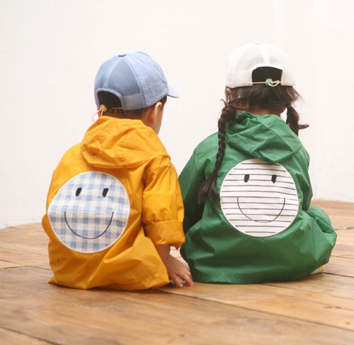Smile Snap Rain Jacket-Yellow   Korean Kids Clothes - Imaryakids