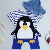 Penguin Set - Blue | Korean Kids Clothes - Imaryakids