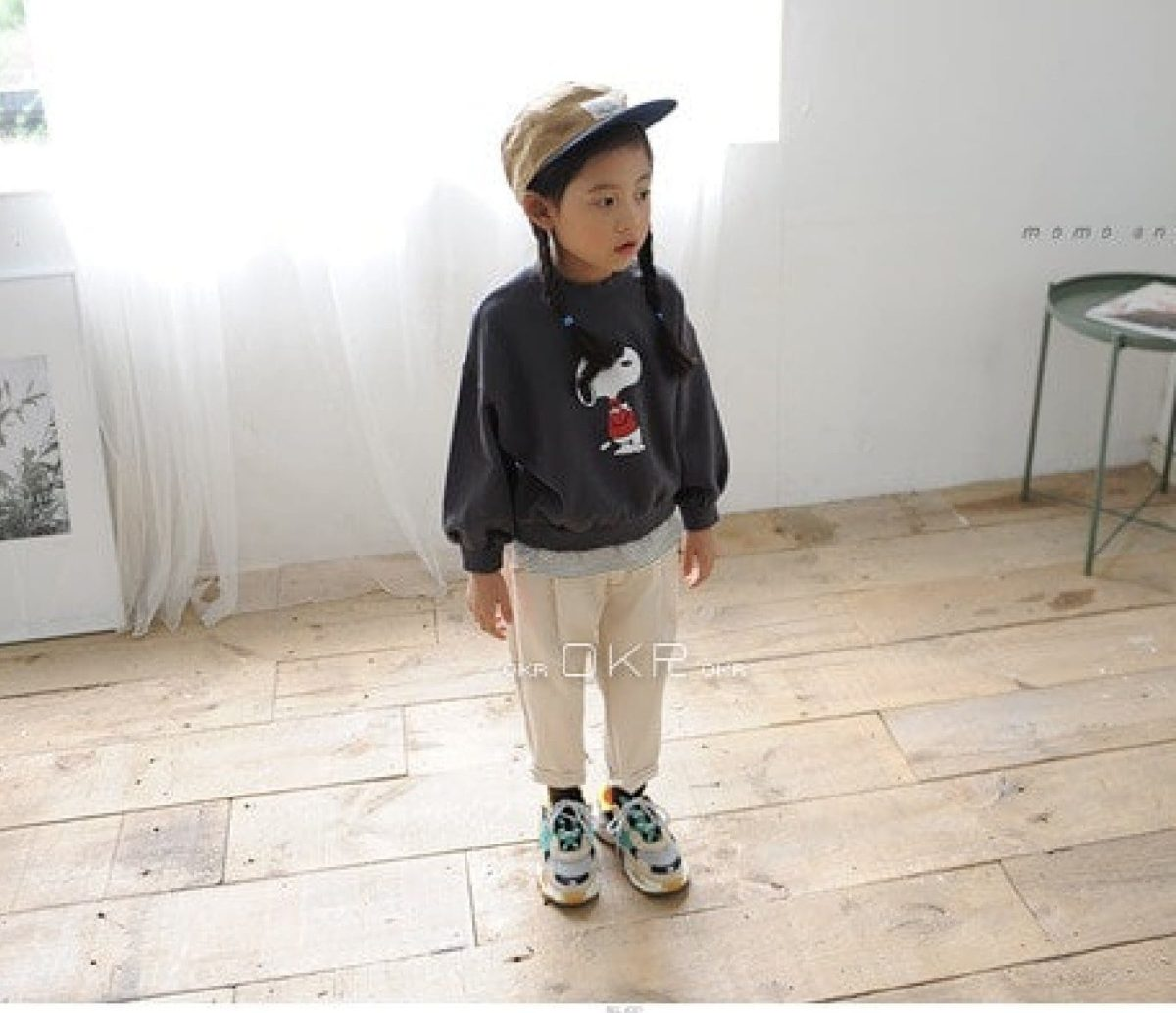 Snoopy M to M Tee - Dark Gray | Korean Kids Clothes - Imaryakids