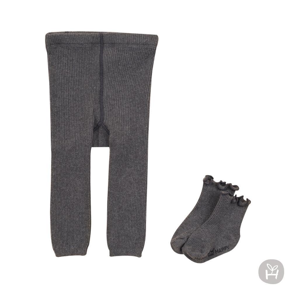 Salvia Leggings Set - Charcoal | Korean Kids Clothes - Imaryakids