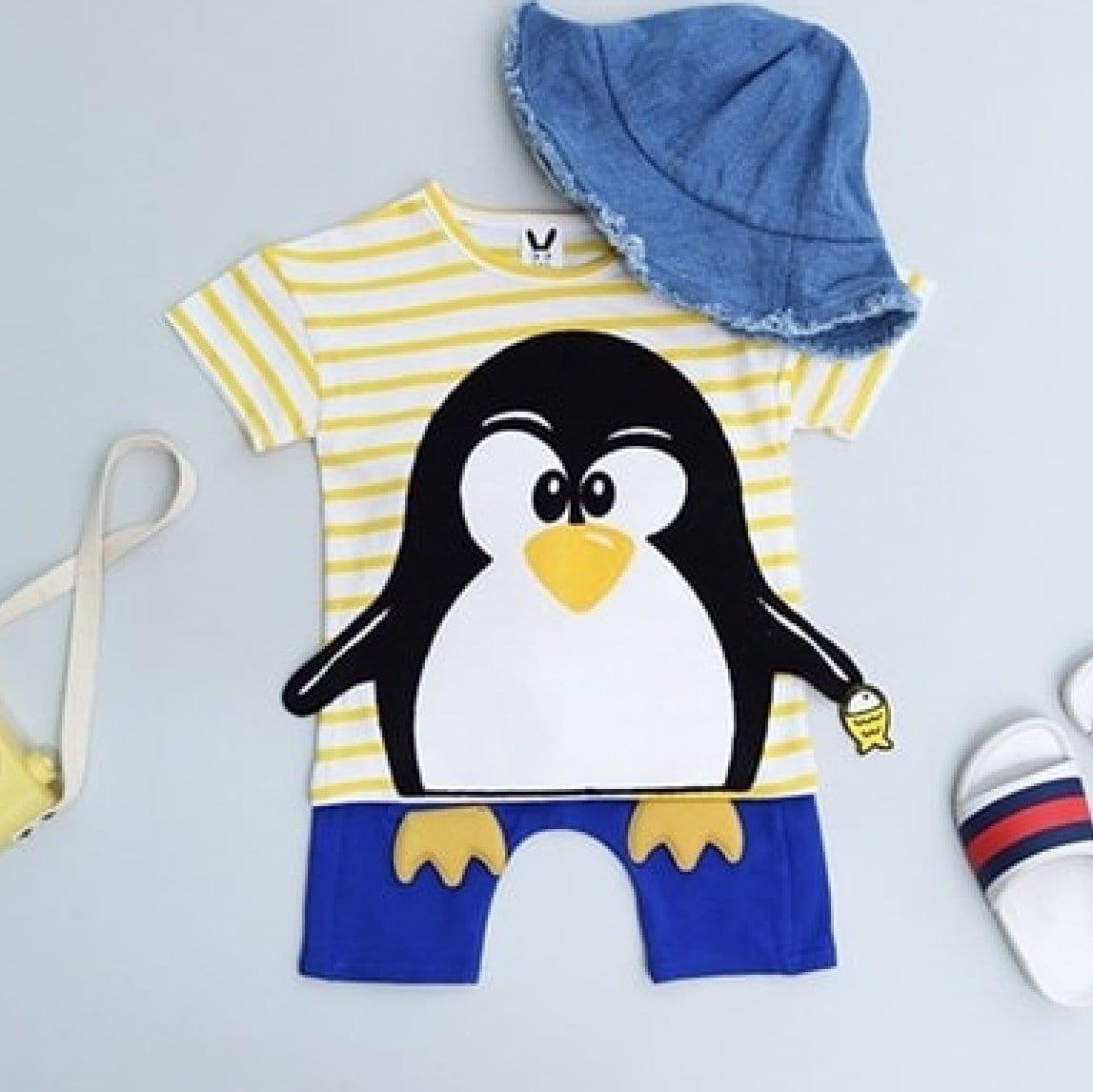 Penguin Tee + Pants Set | Korean Kids Clothes - Imaryakids