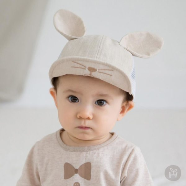 Laurian Mesh Cap - Beige | Korean Kids Clothes - Imaryakids