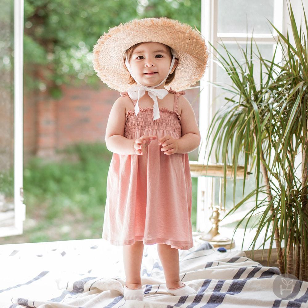 Pico smocking One-piece | Korean Kids Clothes - Imaryakids