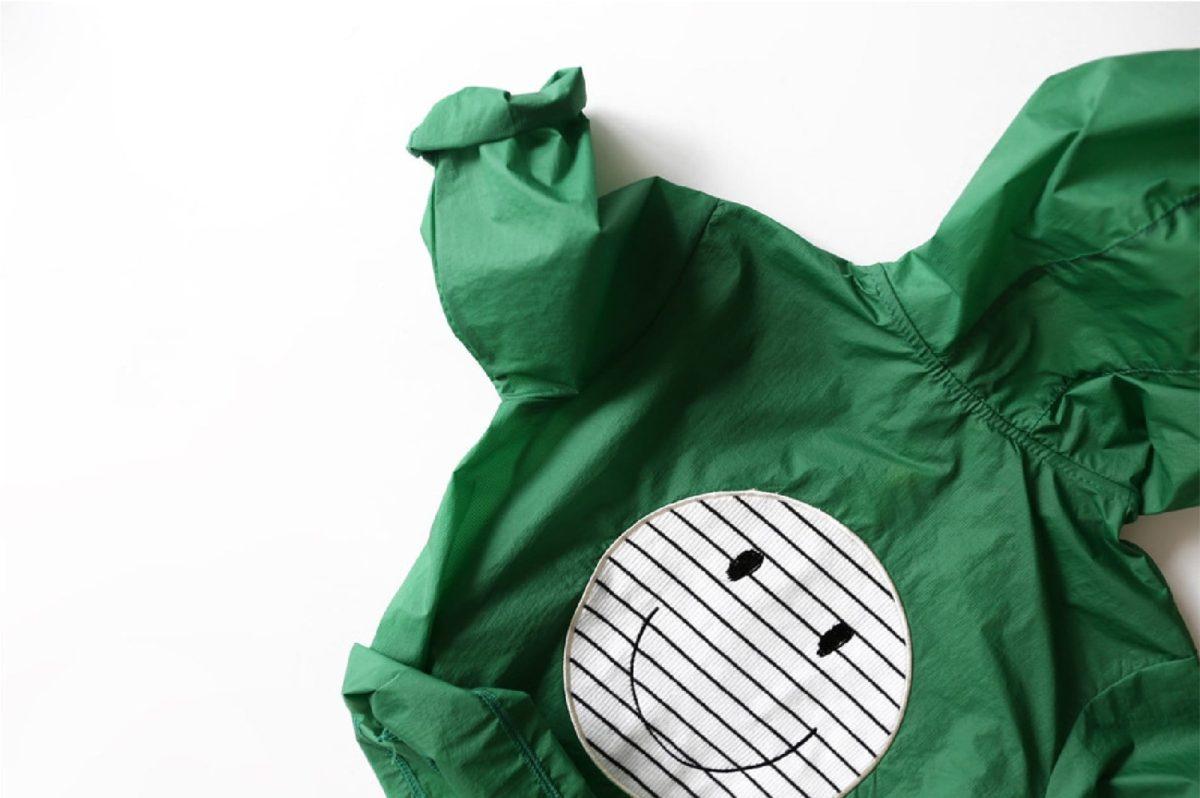 Smile Snap Rain Jacket-Green | Korean Kids Clothes - Imaryakids