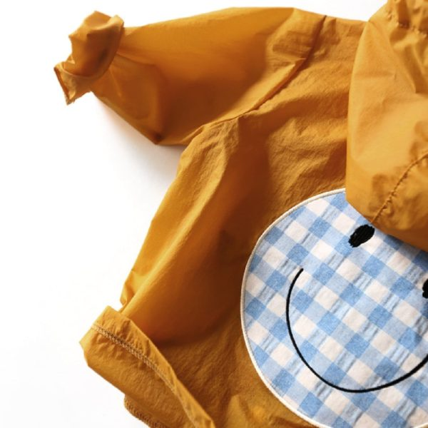 Smile Snap Rain Jacket-Yellow | Korean Kids Clothes - Imaryakids