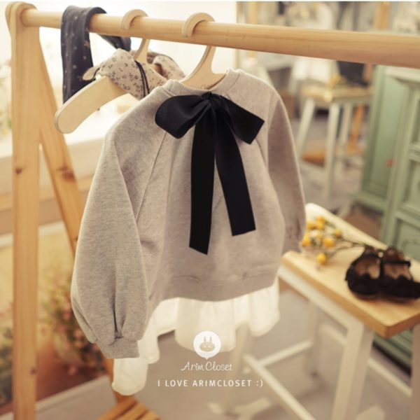Arim Closet Man To Man Baby Dress Korean Kids Clothes
