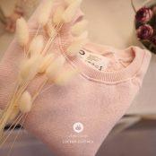 Cotton Baby Man To Man - Pink | Korean Kids Clothes - Imaryakids