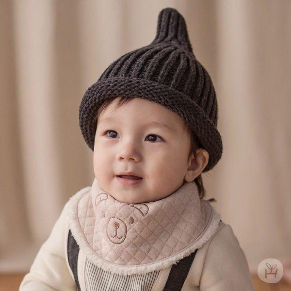 Happy Prince Molly Snow Bananabib - Beige | Korean Kids Clothes - Imaryakids