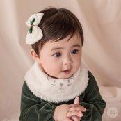 Happy Prince Molly Snow Bananabib - Cream | Korean Kids Clothes - Imaryakids