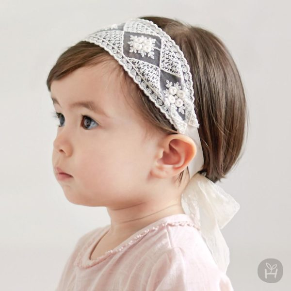 Happy Prince Raven lace hairband | Korean Kids Clothes - Imaryakids