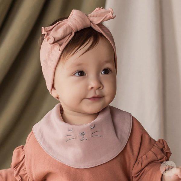 Ivy Banana Bib - Pink | Korean Kids Clothes - Imaryakids