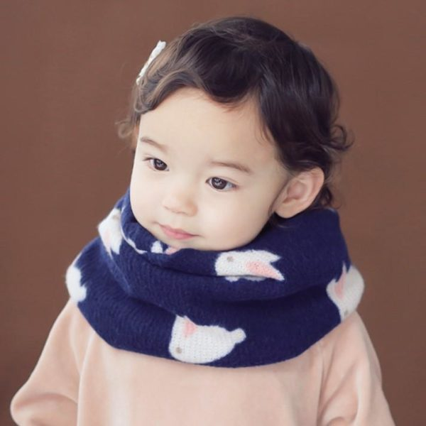 Rabbit Pattern Double-sided Warmer (Navy) | Korean Kids Clothes - Imaryakids