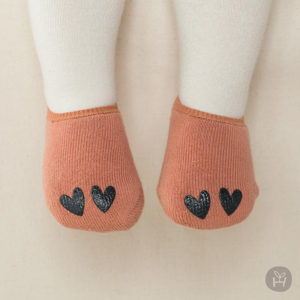 I Love winter socks - Orange | Korean Kids Clothes - Imaryakids