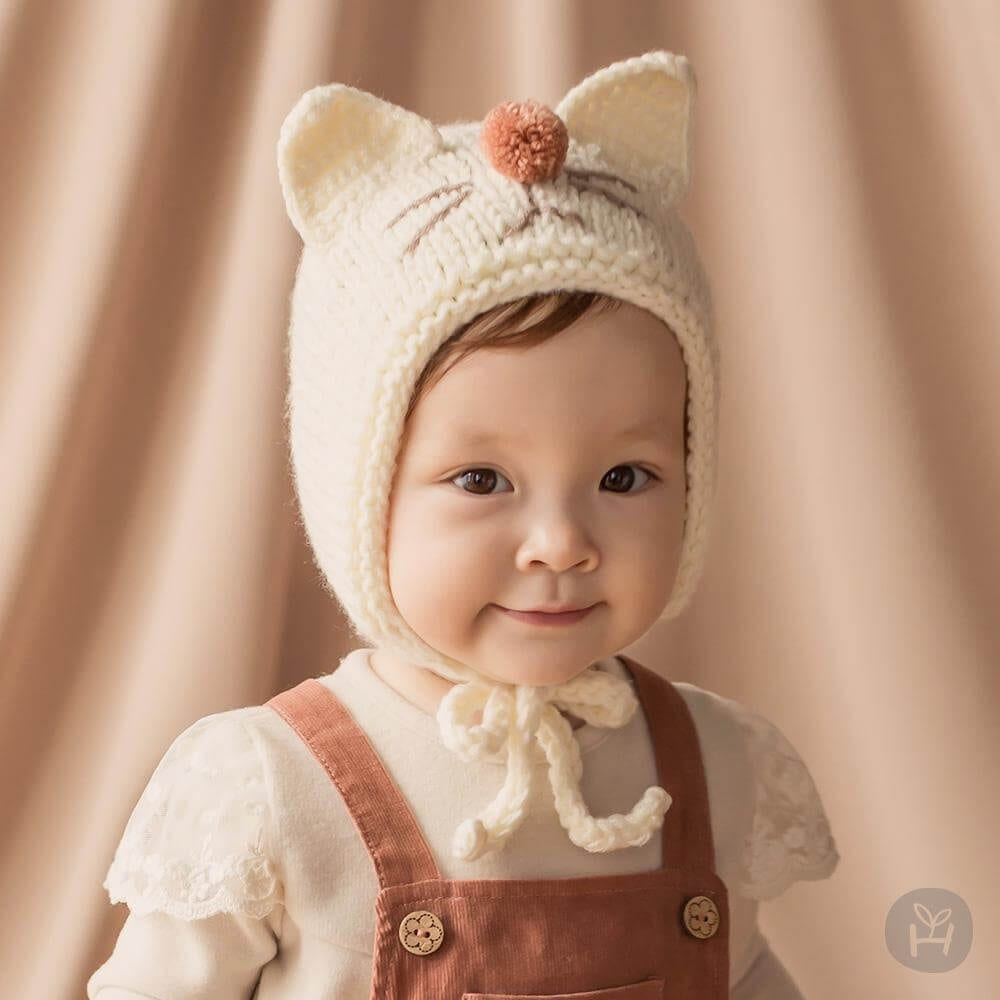 Lamming Knitting Hat Happy Prince Korean Kids Clothes