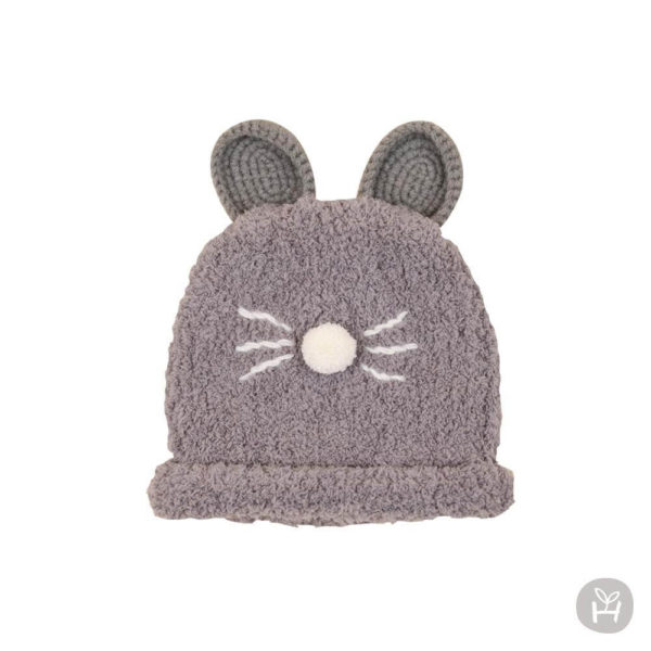 Happy Prince Nu-ri Knitting Hat - Gray | Korean Kids Clothes - Imaryakids
