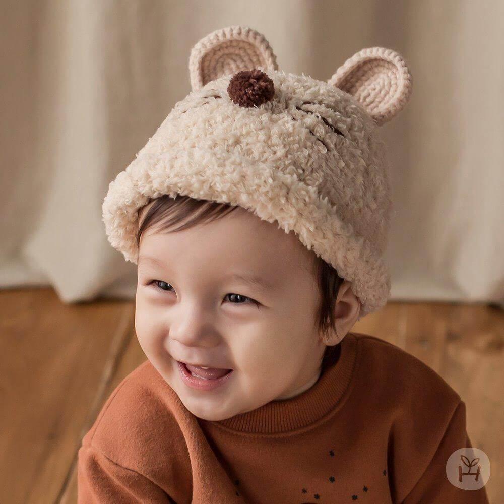 Happy Prince Nu-ri Knitting Hat - Cream | Korean Kids Clothes - Imaryakids